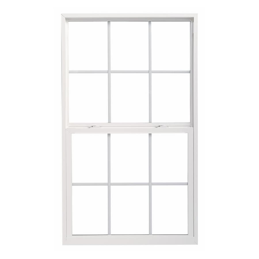ThermaStar by Pella 10 Series Vinyl Double Pane Annealed New Construction Single Hung Window (Rough Opening: 24-in x 48-in; Actual: 23.5-in x 47.5-in)