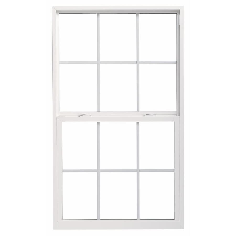 ThermaStar by Pella 10 Series Vinyl Double Pane Annealed New Construction Single Hung Window (Rough Opening: 30-in x 36-in; Actual: 29.5-in x 35.5-in)