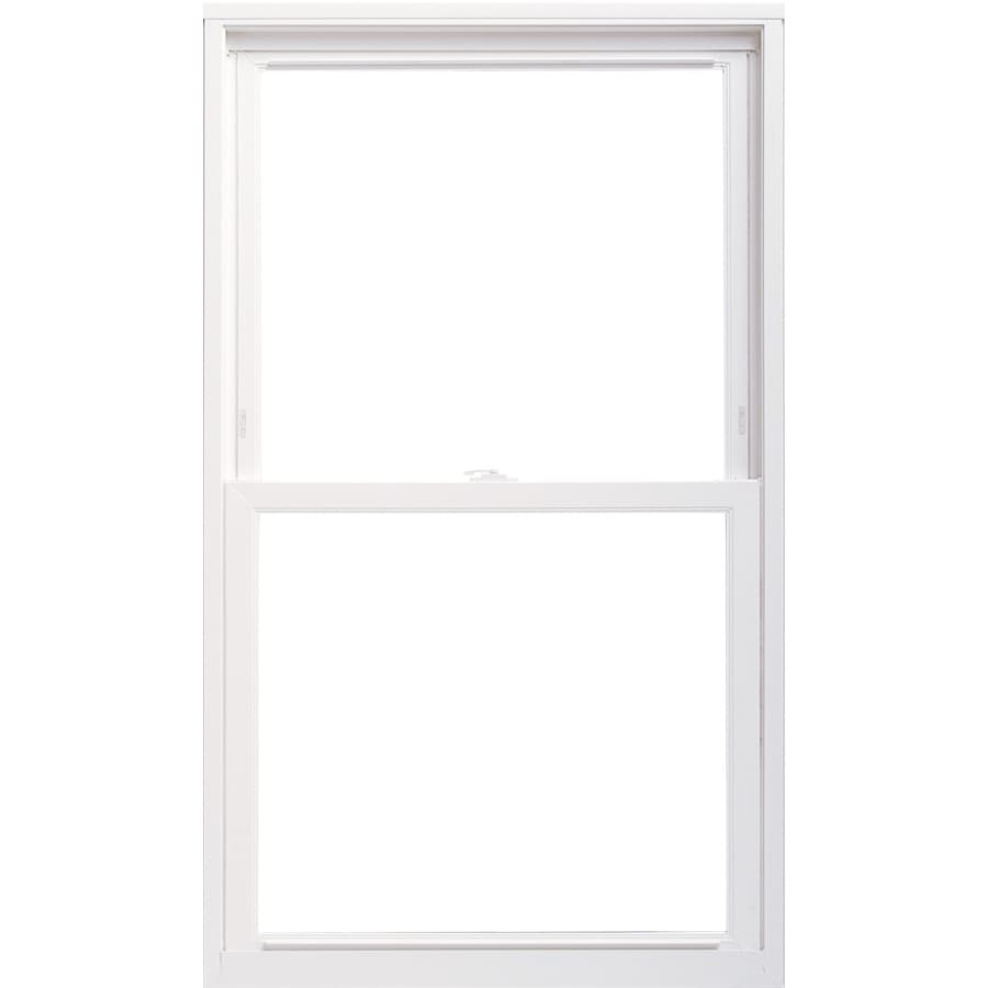 ThermaStar by Pella Vinyl Double Pane Annealed Replacement Single Hung Window (Rough Opening: 35.75-in x 35.75-in; Actual: 35.5-in x 35.5-in)
