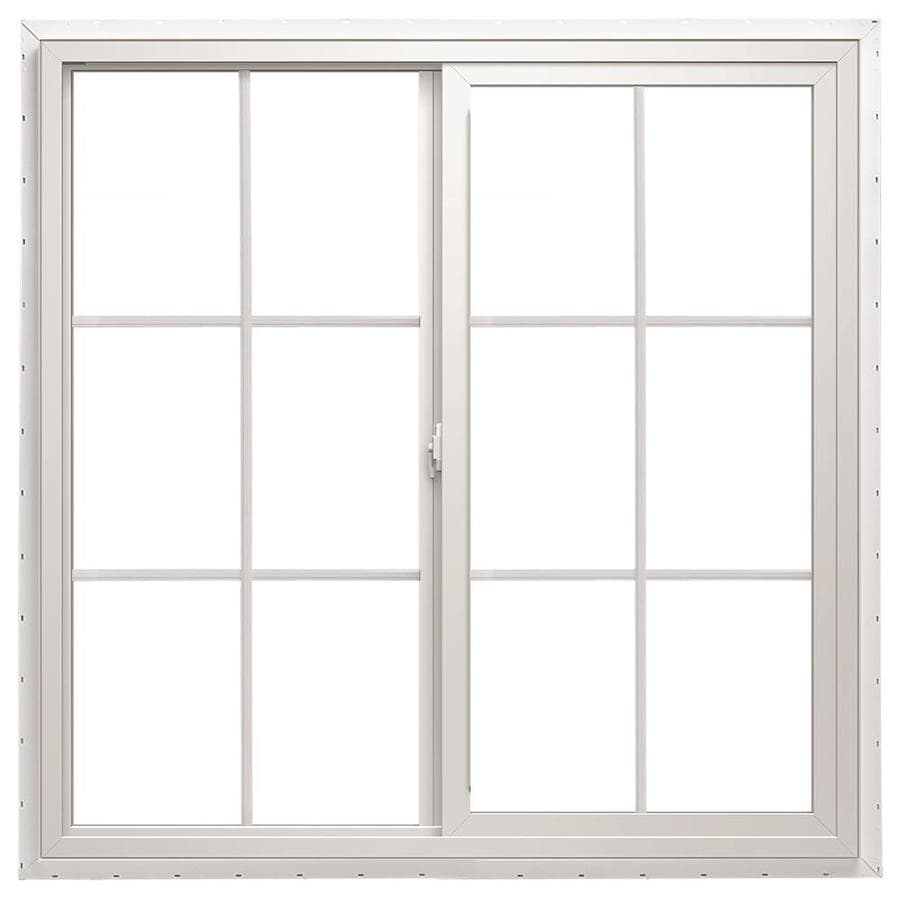 ThermaStar by Pella 10 Series Left-Operable Vinyl Double Pane Annealed Egress Sliding Window (Rough Opening: 60-in x 36-in; Actual: 59.5-in x 35.5-in)