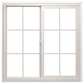 new construction windows lowes rough opening thermastar by pella leftoperable vinyl new construction white exterior sliding window rough opening windows at lowescom
