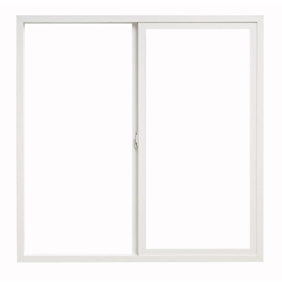 ThermaStar by Pella 10 Series Left-Operable Vinyl Double Pane Annealed New Construction Egress Sliding Window (Rough Opening: 72-in x 60-in; Actual: 71.5-in x 59.5-in)