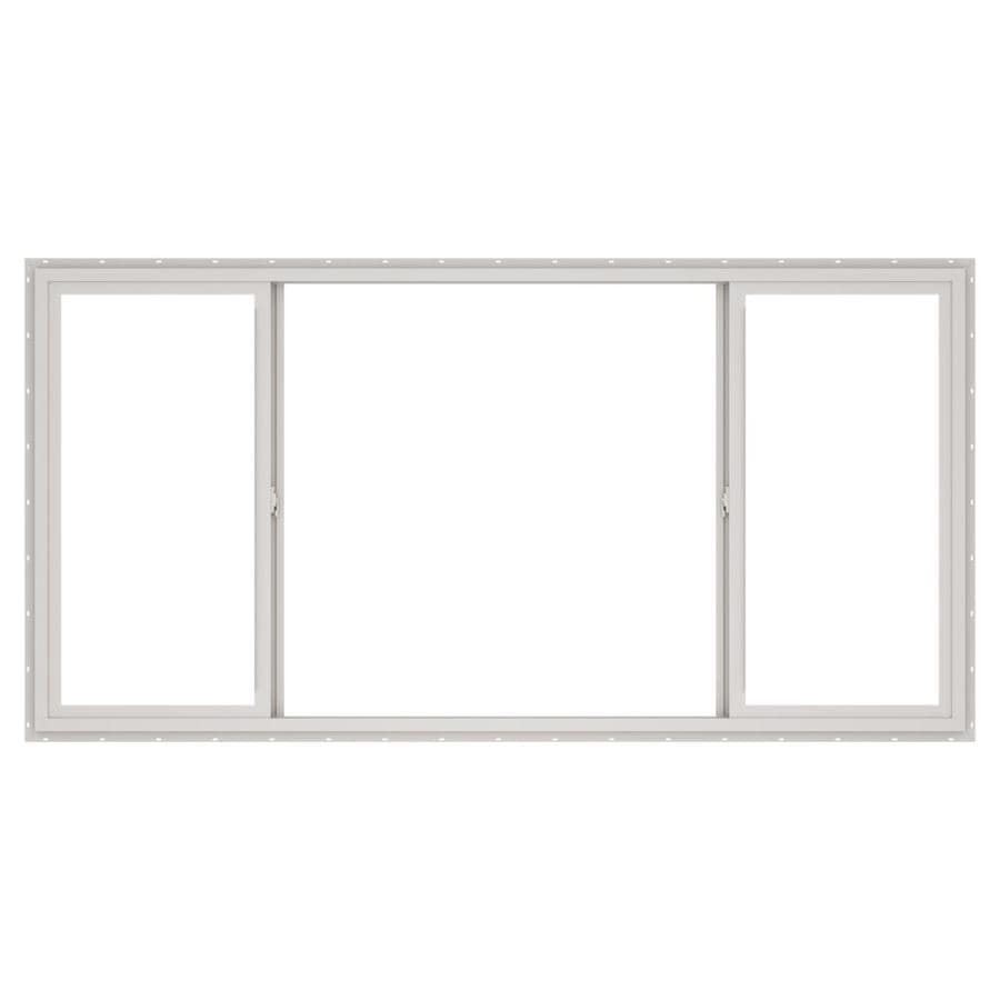 Shop thermastar by pella 96 w x 48 h dual pane insulated for Sliding glass doors 96 x 96