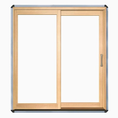 Pella Sliding Doors >> Lifestyle Clear Glass Wood Left Hand Sliding Double Door Sliding Patio Door Common 72 In X 80 In Actual 71 25 In X 79 5 In