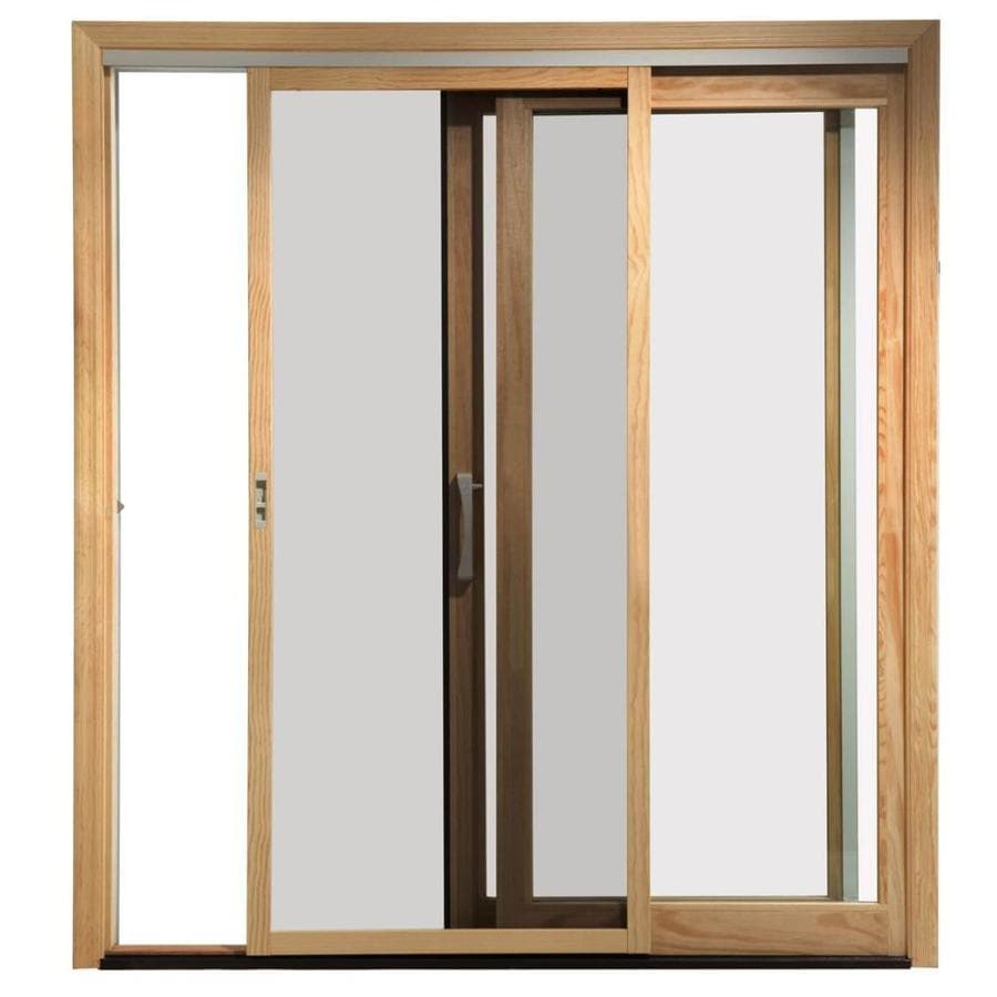 Pella White Wood Sliding Screen Door (Common: 72 In X 80 In