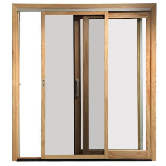 Pella Pella 450 72 In X 80 In White Fiberglass Frame Sliding Screen Door In The Screen Doors Department At Lowes Com