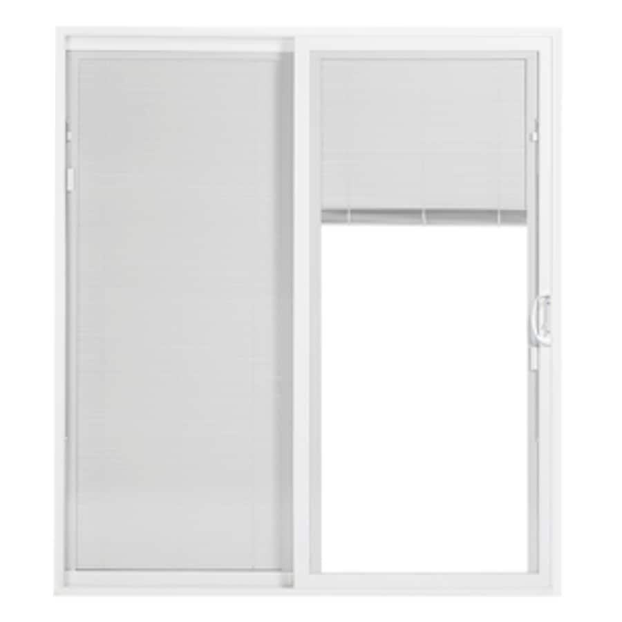 Shop patio doors at lowes display product reviews for 25 series 7075 in blinds between the glass white vinyl sliding eventelaan Image collections