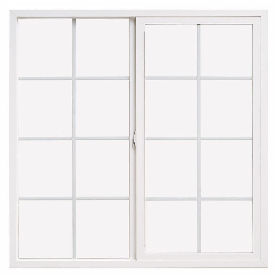 ThermaStar by Pella 10 Series Left-Operable Vinyl Double Pane Annealed Egress Sliding Window (Rough Opening: 72-in x 36-in; Actual: 71.5-in x 35.5-in)