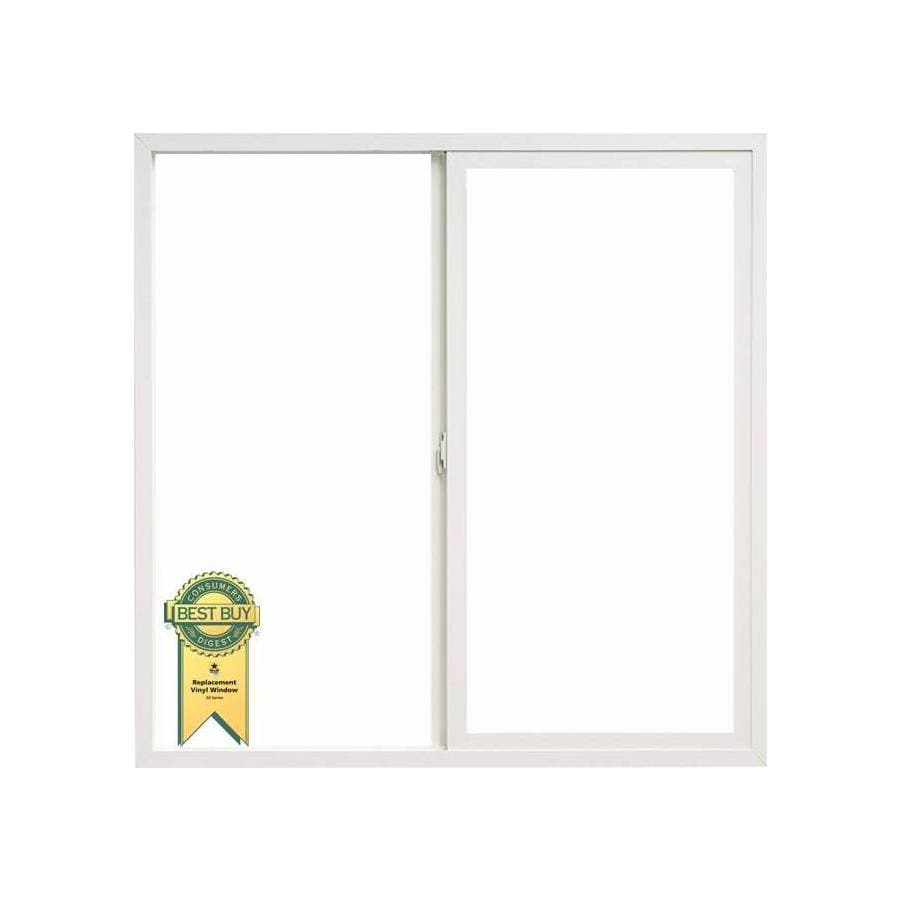 ThermaStar by Pella Left-Operable Vinyl Double Pane Annealed Replacement Sliding Window (Rough Opening: 23.75-in x 45.75-in; Actual: 23.5-in x 45.5-in)