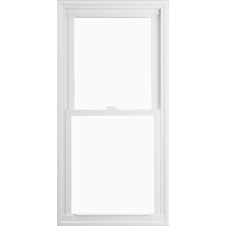 ThermaStar by Pella 15 Series Vinyl Double Pane Annealed Replacement Double Hung Window (Rough Opening: 27.75-in x 45.75-in Actual: 27.5-in x 45.5-in)