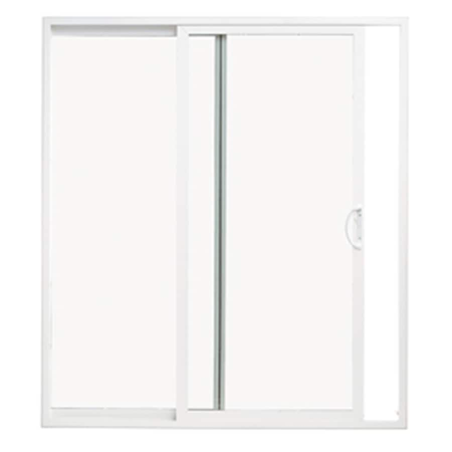 Thermastar By Pella White Vinyl Sliding Patio Door With Insulating Core Common 60