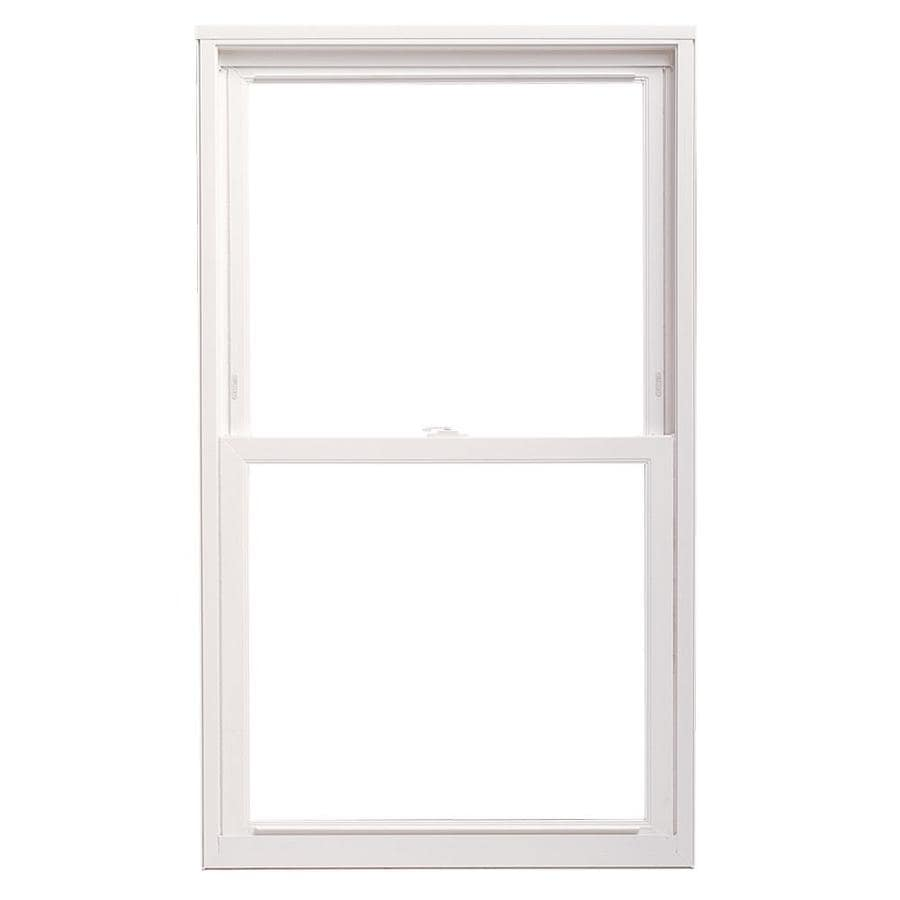 Shop thermastar by pella vinyl double pane annealed for Double hung replacement windows reviews