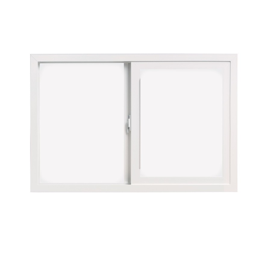 ThermaStar by Pella 10 Series Left-Operable Vinyl Double Pane Annealed Egress Sliding Window (Rough Opening: 48-in x 48-in; Actual: 47.5-in x 47.5-in)