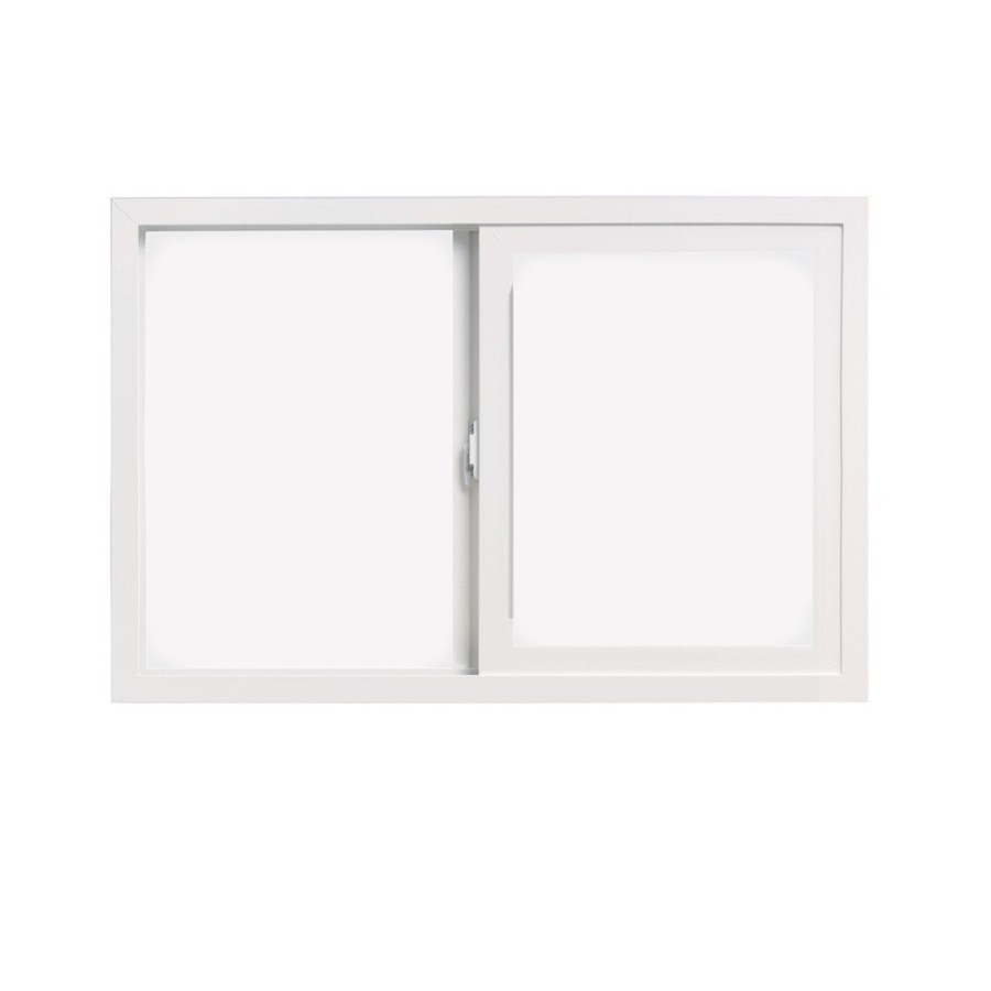 ThermaStar by Pella 10 Series Left-Operable Vinyl Double Pane Annealed Egress Sliding Window (Rough Opening: 48-in x 60-in; Actual: 47.5-in x 59.5-in)