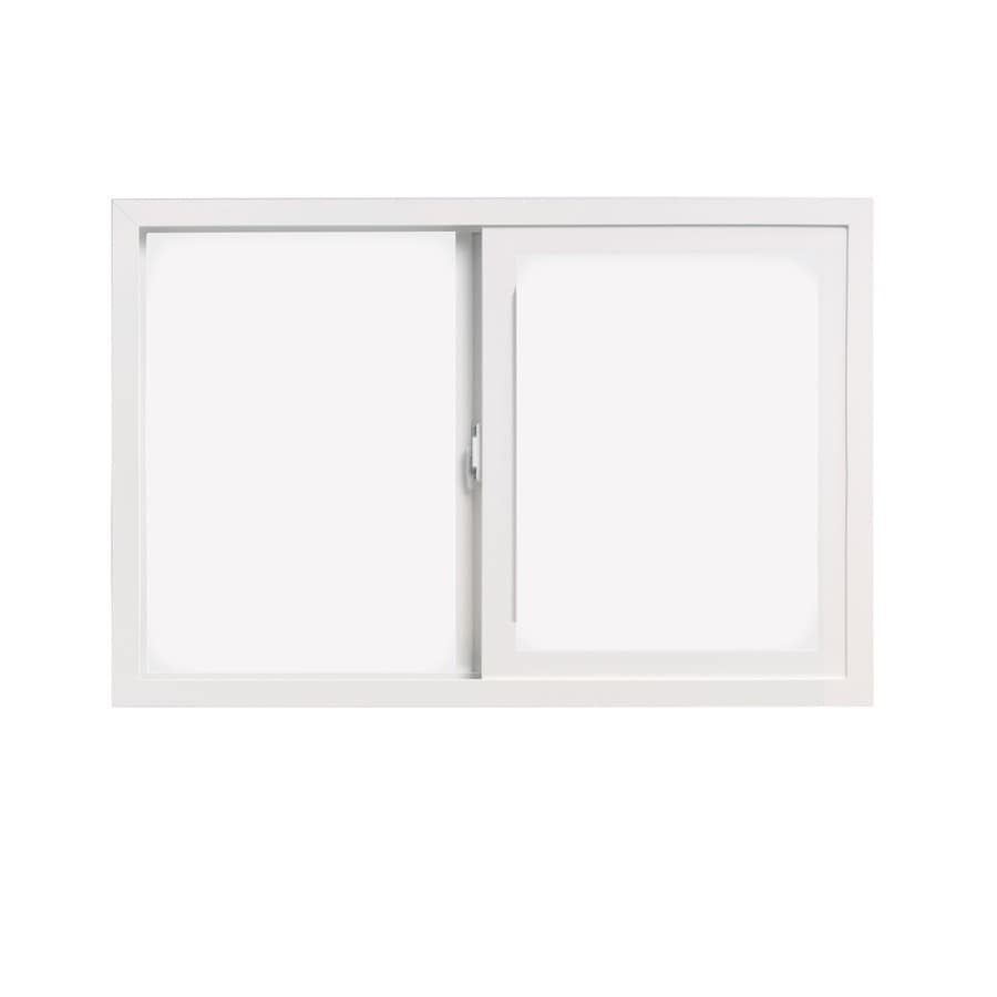 ThermaStar by Pella 10 Series Left-Operable Vinyl Double Pane Annealed Egress Sliding Window (Rough Opening: 60-in x 60-in; Actual: 59.5-in x 59.5-in)