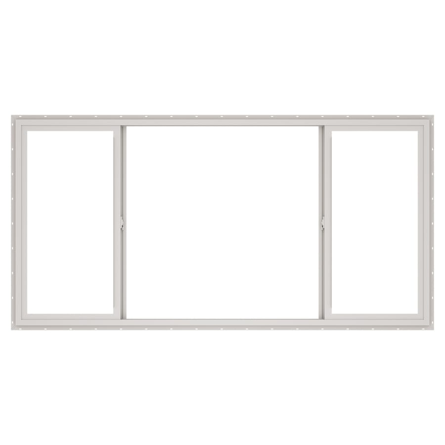 ThermaStar by Pella 10 Series Both-Operable Vinyl Double Pane Annealed Sliding Window (Rough Opening: 72-in x 48-in; Actual: 71.5-in x 47.5-in)
