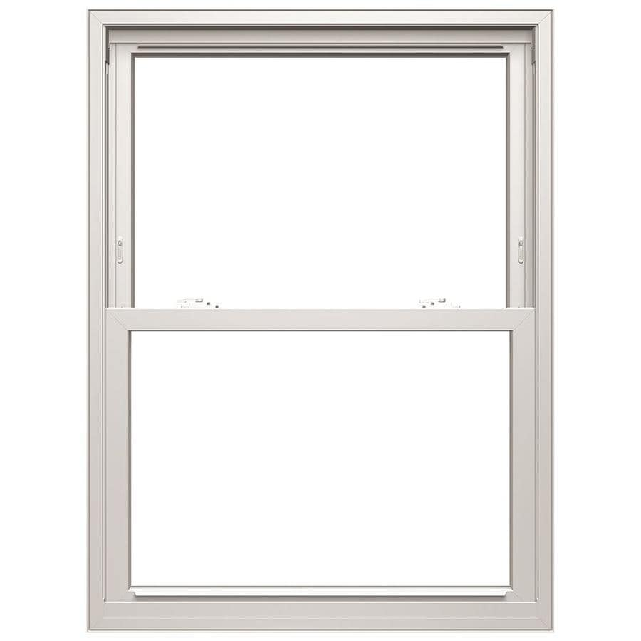 lowes pella windows double pane pella 250 series vinyl replacement white exterior double hung window rough opening 3175 shop