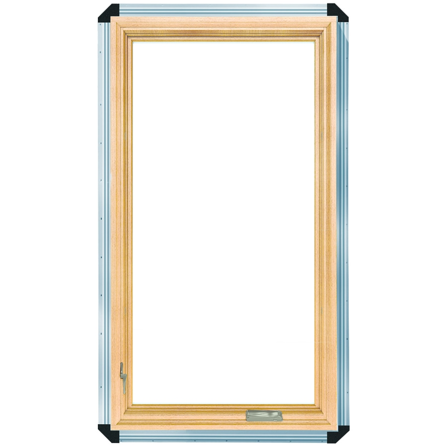 ProLine 450 1 Lite Wood New Construction White Casement Window (Rough  Opening: 25.75