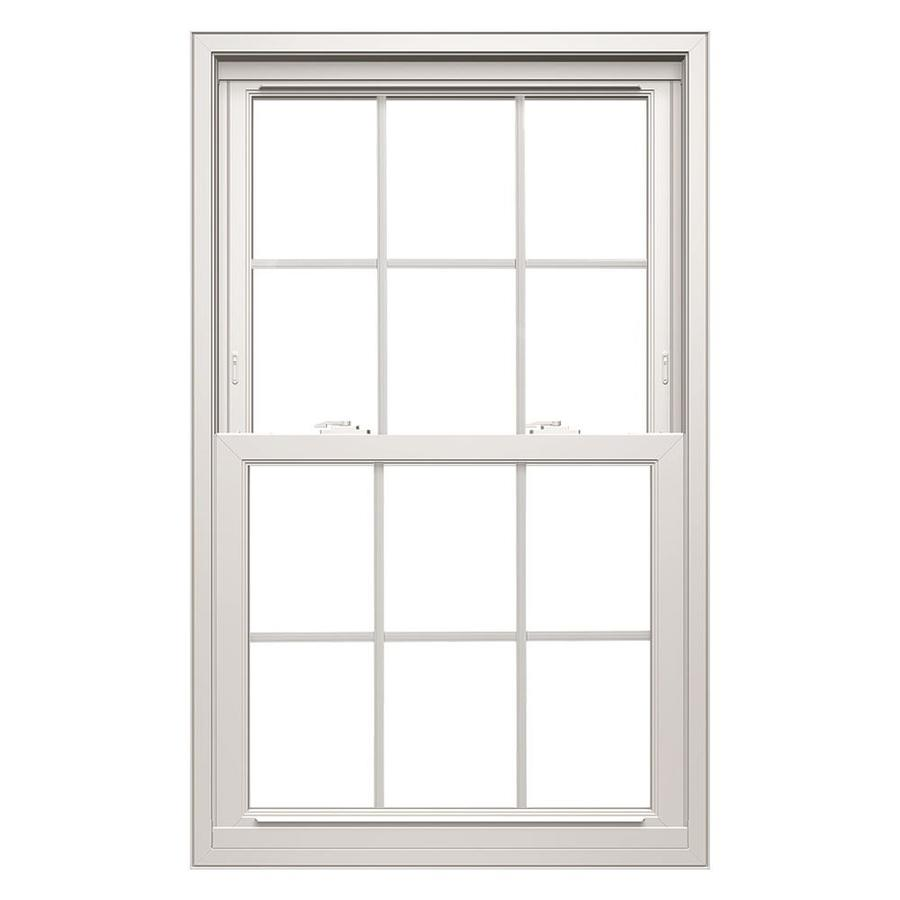 ThermaStar by Pella Vinyl Double Pane Annealed Replacement Double Hung Window (Rough Opening: 31.75-in x 45.75-in; Actual: 31.5-in x 45.5-in)