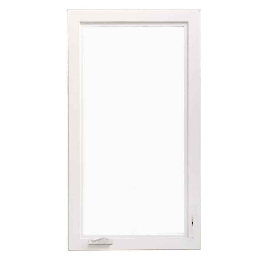 ThermaStar by Pella 1-Lite Vinyl Double Pane Annealed Egress Casement Window (Rough Opening: 36-in x 42-in Actual: 35.5-in x 41.5-in)