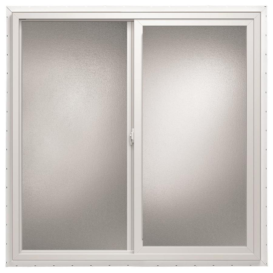 ThermaStar by Pella Left-Operable Vinyl Double Pane Annealed Sliding Window (Rough Opening: 36-in x 12-in; Actual: 35.5-in x 11.5-in)