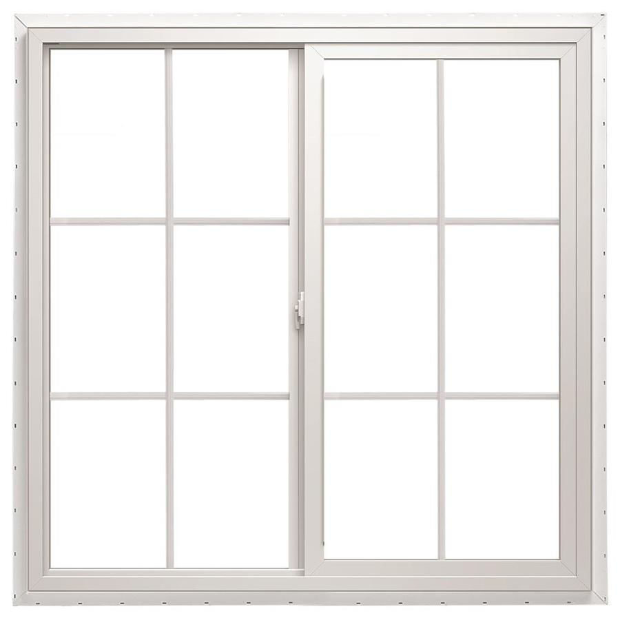 ThermaStar by Pella Left-Operable Vinyl Double Pane Annealed Meets Egress Requirement Sliding Window (Rough Opening: 48-in x 36-in; Actual: 47.5-in x 35.5-in)