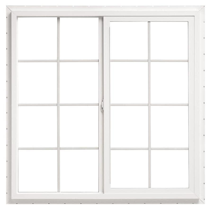 ThermaStar by Pella Left-Operable Vinyl Double Pane Annealed Meets Egress Requirement Sliding Window (Rough Opening: 48-in x 48-in; Actual: 47.5-in x 47.5-in)