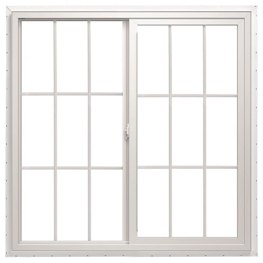 ThermaStar by Pella Left-Operable Vinyl Double Pane Annealed Meets Egress Requirement Sliding Window (Rough Opening: 72-in x 36-in; Actual: 71.5-in x 35.5-in)