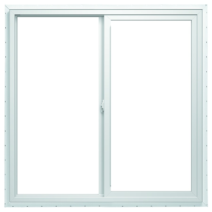 ThermaStar by Pella Left-Operable Vinyl Double Pane Annealed Sliding Window (Rough Opening: 48-in x 24-in; Actual: 47.5-in x 23.5-in)