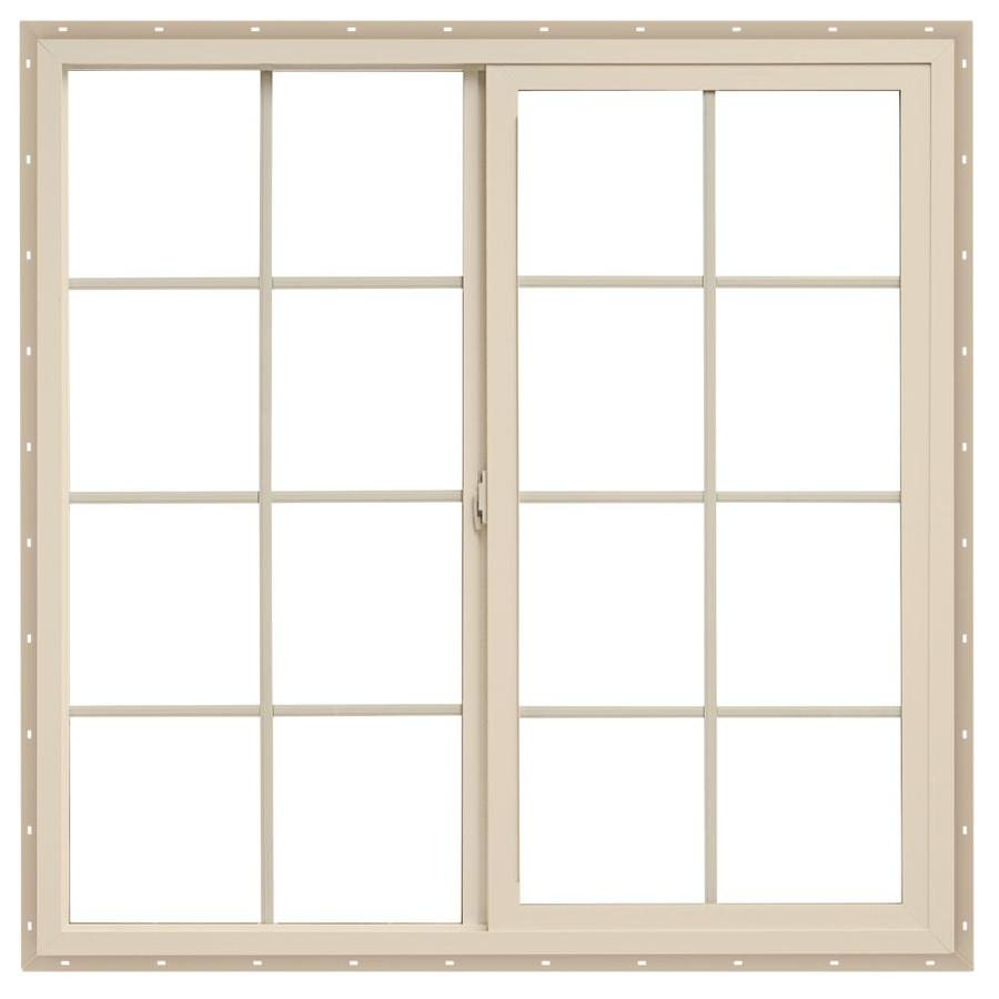 ThermaStar by Pella Left-Operable Vinyl Double Pane Annealed Egress Sliding Window (Rough Opening: 36-in x 36-in; Actual: 35.5-in x 35.5-in)