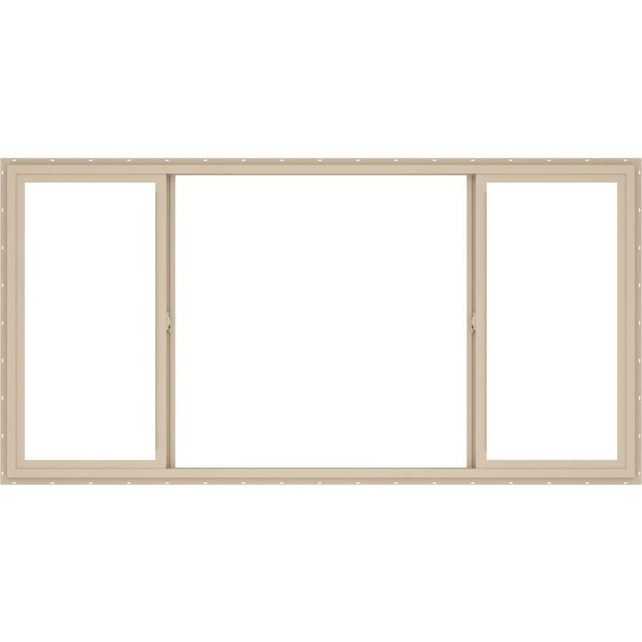 ThermaStar by Pella Left-Operable Vinyl Double Pane Annealed Sliding Window (Rough Opening: 96-in x 48-in; Actual: 95.5-in x 47.5-in)