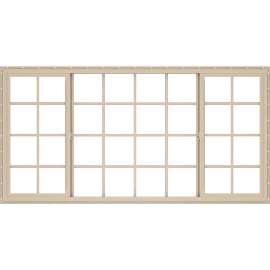 ThermaStar by Pella Left-Operable Vinyl Double Pane Annealed Egress Sliding Window (Rough Opening: 96-in x 48-in; Actual: 95.5-in x 47.5-in)