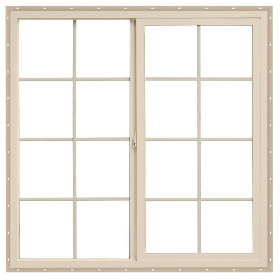 ThermaStar by Pella Left-Operable Vinyl Double Pane Annealed Egress Sliding Window (Rough Opening: 48-in x 36-in; Actual: 47.5-in x 35.5-in)