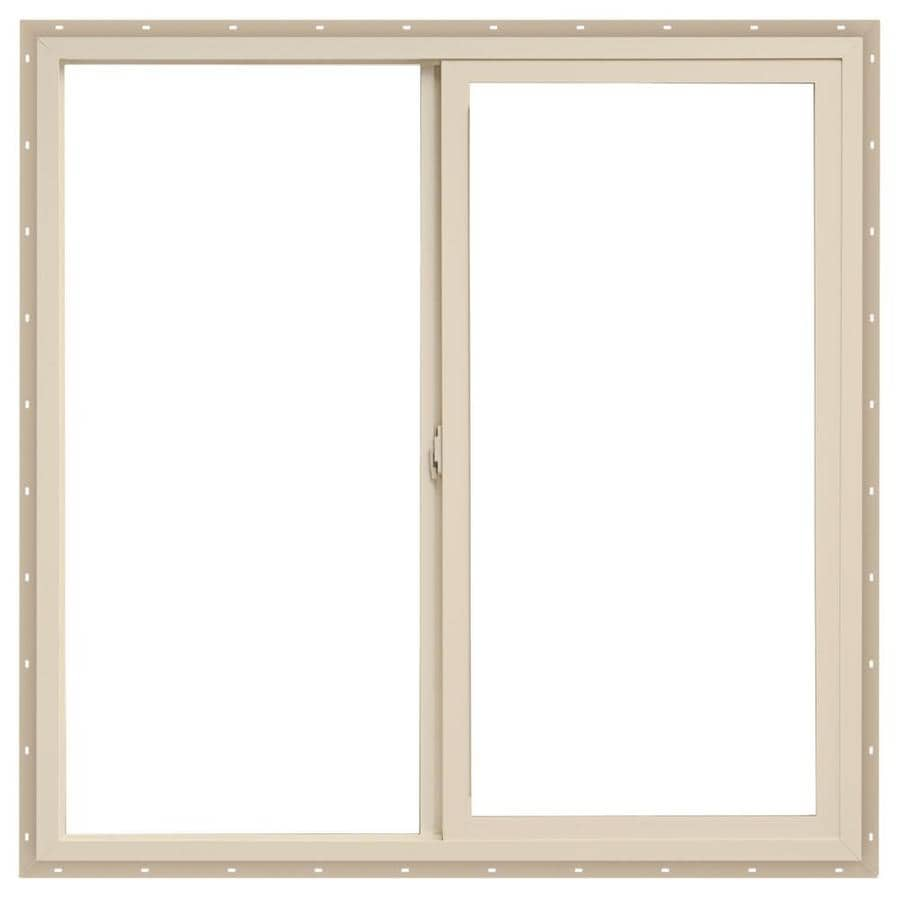 ThermaStar by Pella Left-Operable Vinyl Double Pane Annealed Egress Sliding Window (Rough Opening: 48-in x 48-in; Actual: 47.5-in x 47.5-in)