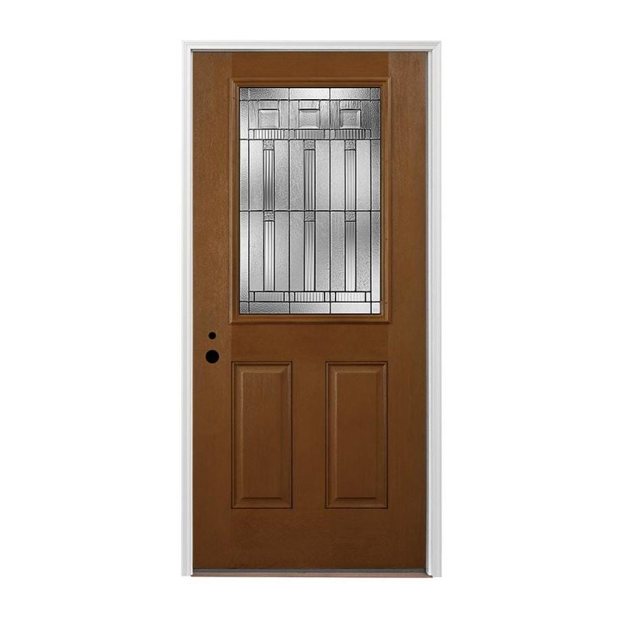 Shop pella 2 panel insulating core half lite right hand for Exterior door insulation