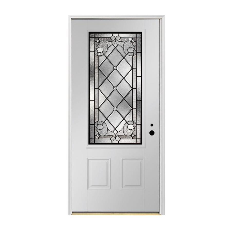 Shop pella 2 panel insulating core 3 4 lite left hand for Exterior door insulation