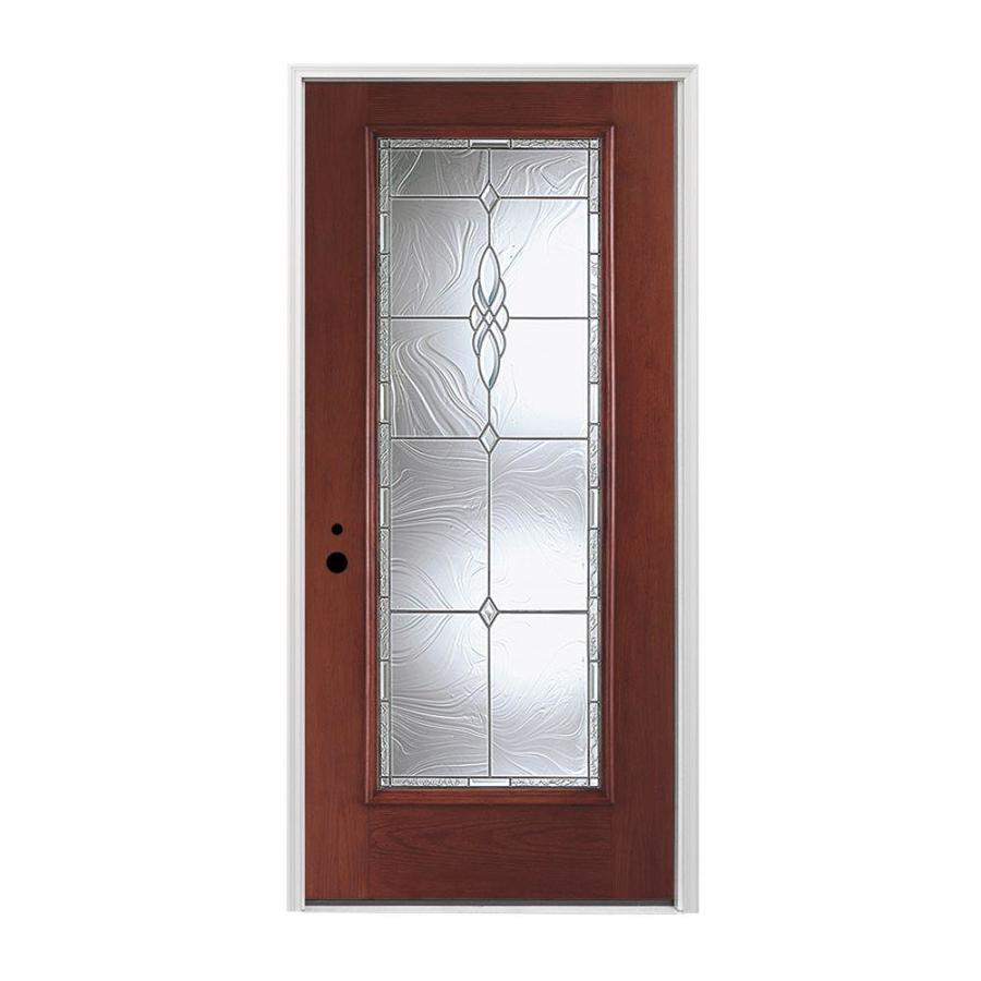 Shop pella 1 panel insulating core full lite right hand for Exterior door insulation