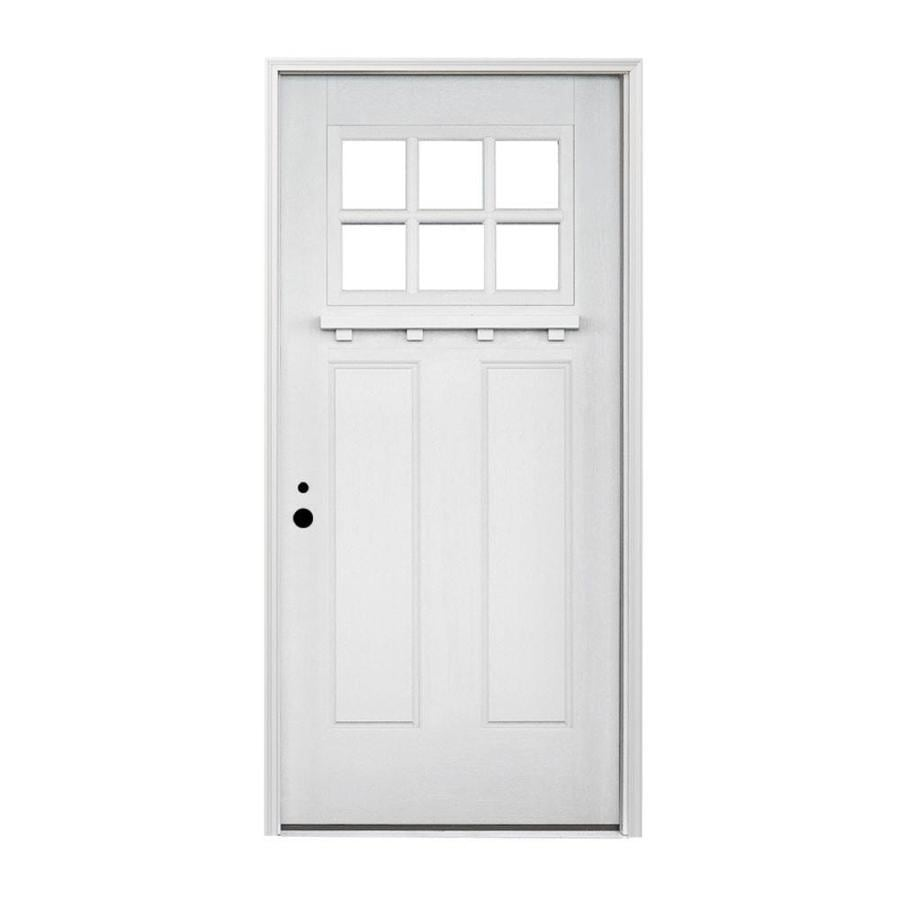 Shop Pella Craftsman Right Hand Inswing Prefinished White Exterior