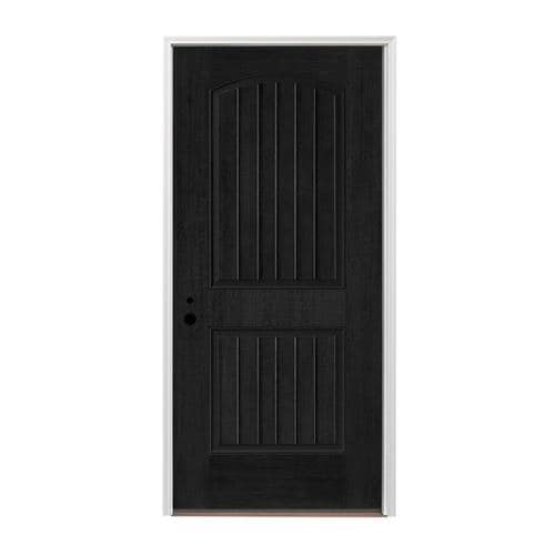 Mobile Home Replacement Doors Exterior: Pella Right-Hand Inswing Prefinished Black Exterior White