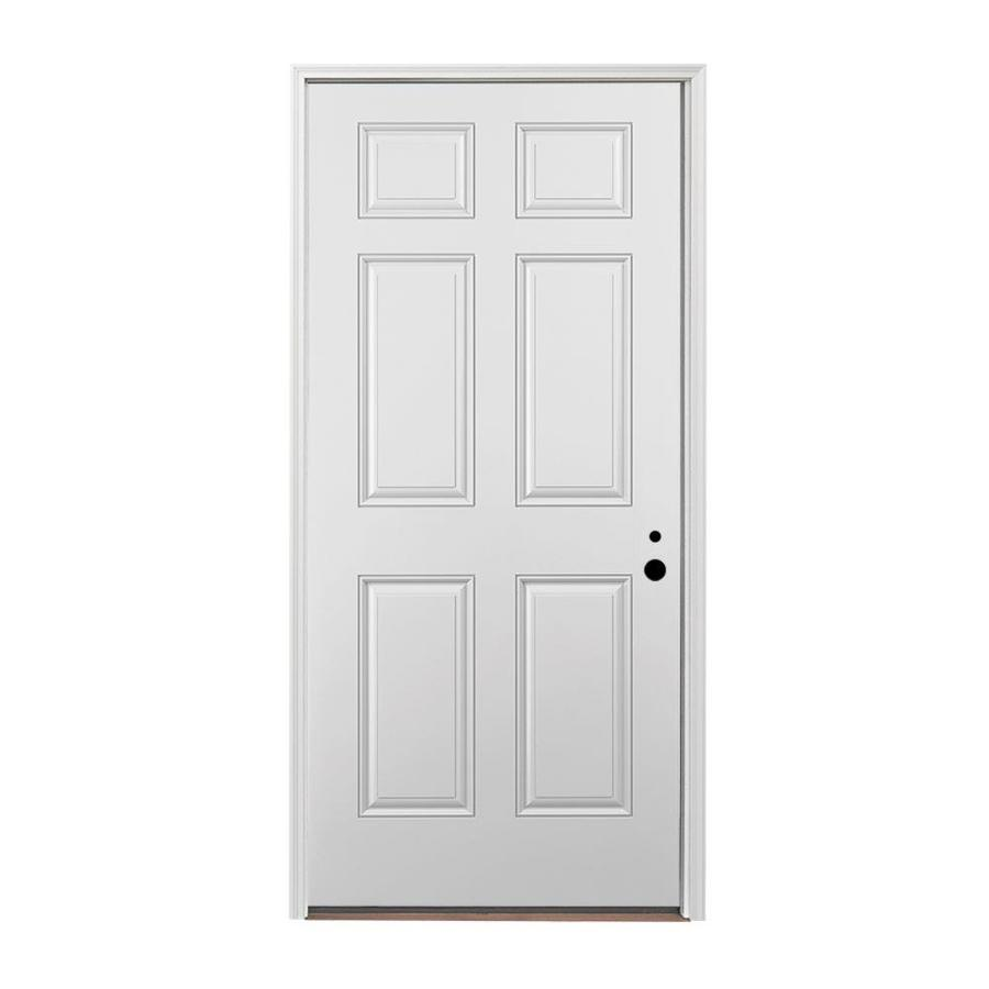 Shop pella 6 panel insulating core left hand inswing for Exterior door insulation