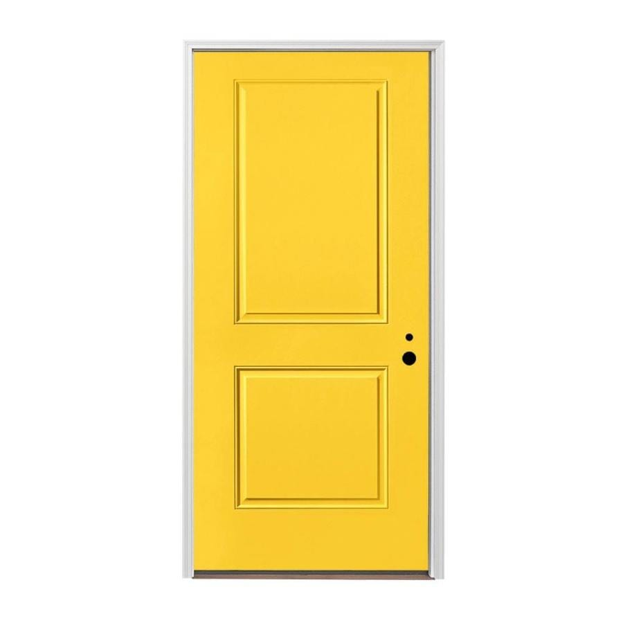 Shop Pella Left Hand Inswing Prefinished Animated Yellow Exterior