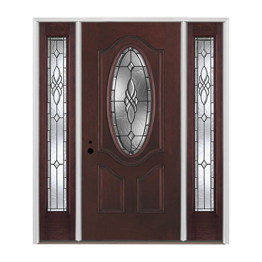 Pella oval lite decorative glass right hand inswing - Decorative interior doors with glass ...