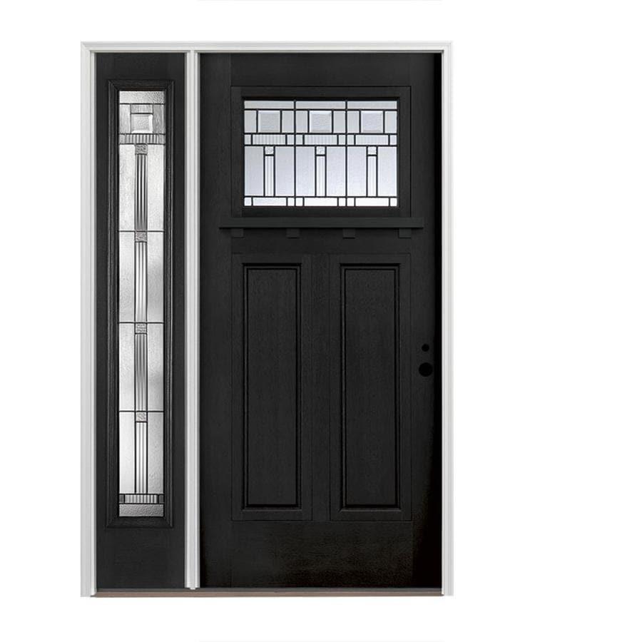 Insulation For Front Door: Pella Craftsman Decorative Glass Left-Hand Inswing