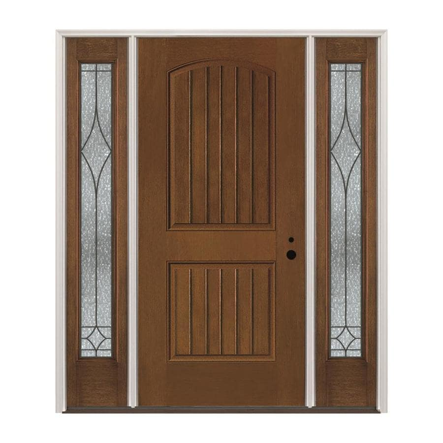 Pella Left Hand Inswing Prestained Provincial Exterior Interior Stained Fibergl Prehung Entry Door With