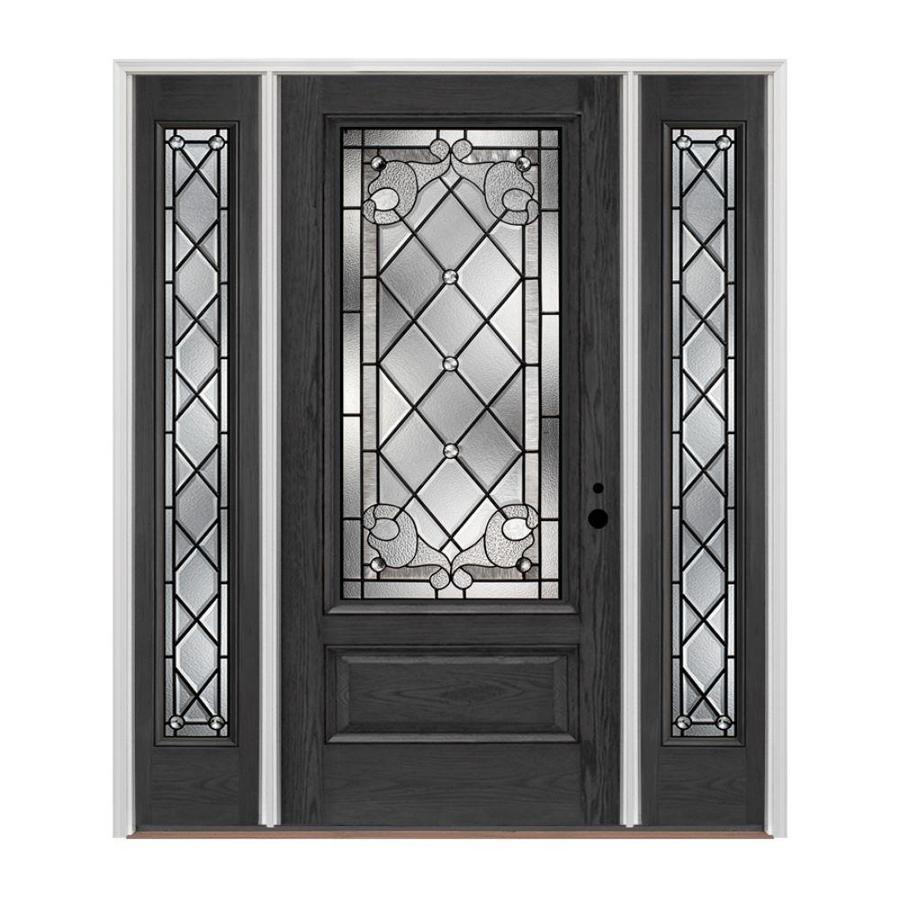 Pella 3 4 Lite Decorative Glass Left Hand Inswing Stained