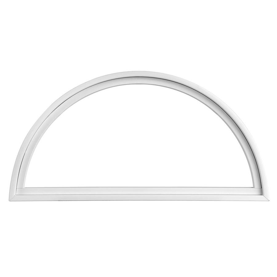 Pella Impervia 12 in x 12 in Half Circle Replacement White Window ...