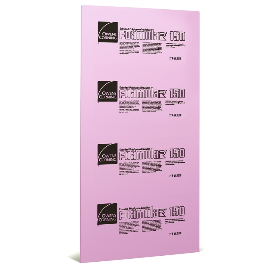 Owens Corning Extruded Polystyrene Foam Board Insulation Common 2 In X 4