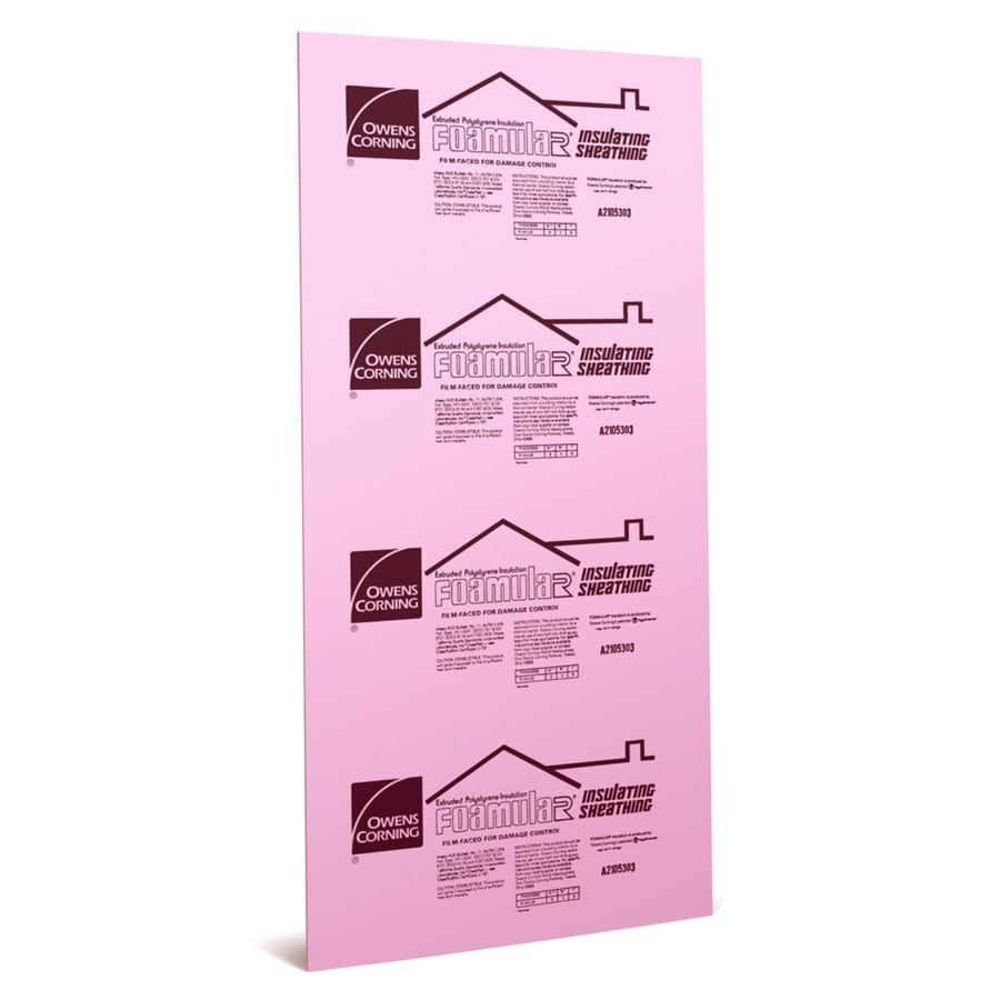 Owens Corning Extruded Polystyrene Foam Board Insulation (Common: 0.5-in x 4-ft x 8-ft; Actual: 0.5-in x 48-ft x 8-ft)