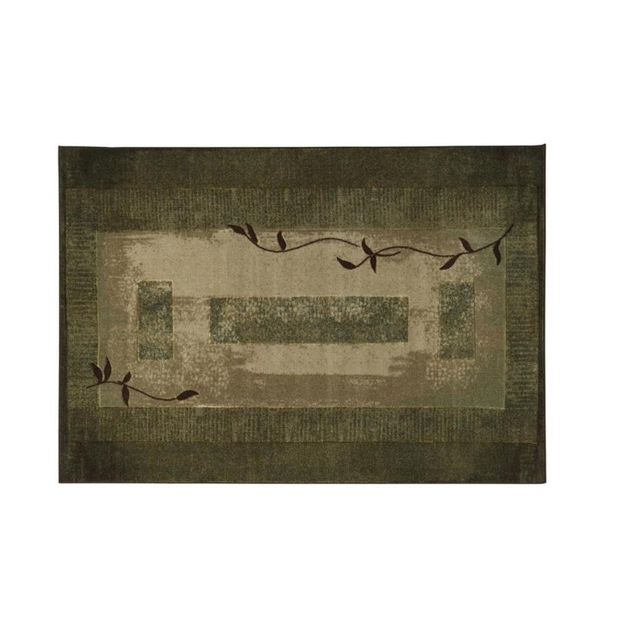 Oriental Weavers of America Holder Green Rectangular Indoor Machine-Made Nature Throw Rug (Common: 2 x 3; Actual: 2.17-ft W x 3.25-ft L x 0.0-ft Dia)