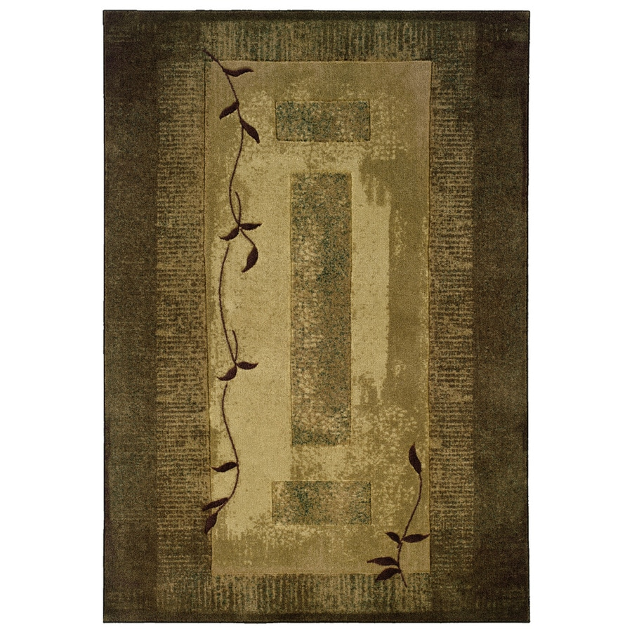 Elegant Allen + Roth Holder Green Rectangular Indoor Machine Made Nature Area Rug  (Common: